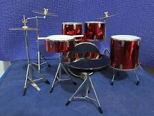 """1/6 Scale Red Drum Set Musical Instrument for 12"""" Action figure"""
