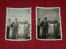 [Coll. BESNARDEAU] CINEMA -SPECTACLE Dédicace Yves VINCENT 2 Photos amateur 1948