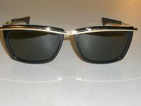 1970's VINTAGE B&L RAY BAN L1004 SLEEK BLACK/GOLD G15 OLYMPIAN II SUNGLASSES