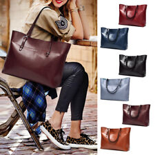 New Elegant Women's Ladys Large Designer Style PU Leather Tote Shopper Hand Bags