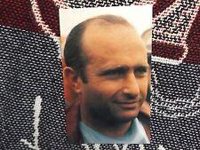 JUAN MANUEL FANGIO POSTCARD - FIVE TIME F1 WORLD CHAMPION - 1989 CARD SCHOOL