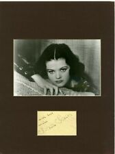 SIMONE SIMON • B&W PHOTO • SIGNED • MATTED 12X16 • Star of CAT PEOPLE movie.