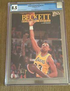 KAREEM ABDUL JABBAR 1991 Beckett Basketball #12 Magazine CGC 8.5 NM NEWSSTAND