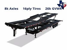 Brand New Texas Pride 47' Four Car Hauler Trailer, 26k gvwr