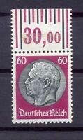 DR 493 WOR Hindenburg 60 Pfg. postfrisch Kurzbefund HD Schlegel (xr29)