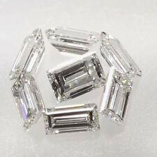 5 X 2.5 MM 0.20 Carat Off White Straight Baguette Cut Loose Moissanite 4 Ring