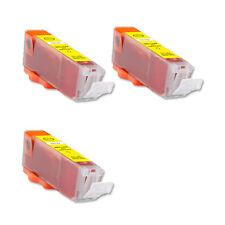3 YELLOW Ink Cartridge w/ CHIP fits Canon CLI-251XL MG5520 MX722 MX922 MG7120