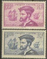 "FRANCE STAMP TIMBRE N° 296/297 "" CARTIER, BATEAU, CANADA 1934 "" NEUF xx TB B474"