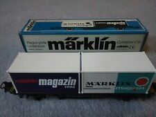 Marklin HO Gauge Container Car #84670  Made in Germany  ~ TS
