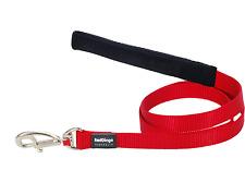 Red Dingo Plain Large Pet Dog Lead 25mm 1.2m