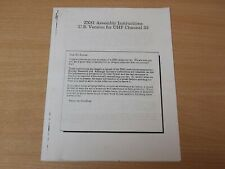Sinclair ZX81 Kit Assembly Instructions - US Version for UHF Channel 33