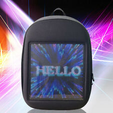 Creative 20L LED Display Screen Backpack APP Control Pattern Free Change Gray