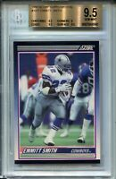 1990 Score Supplemental 101 Emmitt Smith Rookie Card XRC Graded BGS Gem MINT 9.5