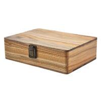 MagiDeal 205x130x60mm Wood Stash Box - Storage Rooling Tray Paper Kits