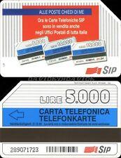 SCHEDA TELEFONICA - ALLE POSTE CHIEDI DI ME AA - C&C 2364 GOLDEN 36 AA - USATA
