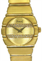 Piaget Polo 18k Yellow Gold & Diamond Ladies 23mm Quartz Dress Watch 861 C 701