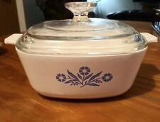 Blue Cornflower CORNING WARE 1.5 qt casserole dish P-1 1/2-B w/Pyrex lid P-7-C