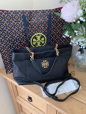 Stunning Black and Gold Tory Burch Ladies Handbag Shoulderbag