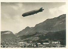 Brunnen Schweiz Switzerland Suisse Zeppelin Airship Dirigible CARD IMAGE 30s