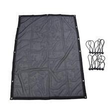 Black Mesh Sun Shade Full Top Cover UV Protection For 1997-2006 Jeep Wrangler TJ