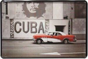 Retro Motiv Blechschild 20x30 Oldtimer Kuba Strasse Che Guevara
