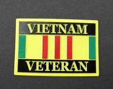 VIETNAM VETERAN VET RIBBON BADGE FLEXIBLE FRIDGE CAR MAGNET 3.1 INCHES