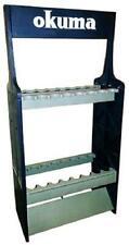 Fishing Rod Pole 16 Poles Rack Holder Storage Organizer Wall Mount Double Case