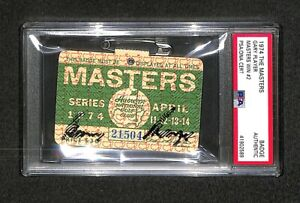 1974 MASTERS BADGE TICKET GARY PLAYER WINNER AUTOGRAPHED SIGNED AUTO PSA/DNA
