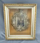 Victorian Antique deep Shadow Box Photo 25th Wedding Anniversary Silver wreath