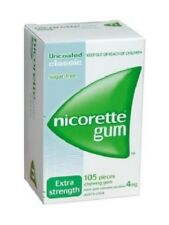 Nicorette 4mg Chewing Gum 105 Pcs Classic Extra Strength Sugar