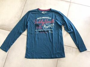 Tee-shirt TEDDY SMITH bleu taille S à manches longues neuf