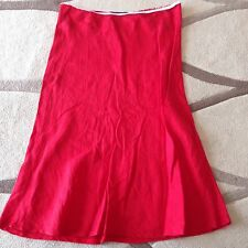 Blue Sand Red Straight Below Knee Skirt Size 42