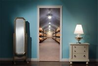 Door Mural Wine Cellar View Wall Stickers Decal Wallpaper 94