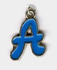"""A"" enamel letter charm or pendant."