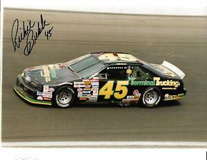 Autographed RIch Bickle NASCAR Auto Racing Photograph