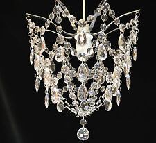 CONTEMPORARY STYLE ACRYLIC CRYSTAL JEWELLED PENDANT CEILING SHADE CLEAR