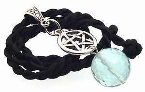 16mm Facetted Blue Obsidian Pentacle Gemstone Crystal Pentagram Pendant