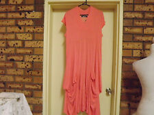 Brand New With Tags David House Apricot Draping Dress sz 16