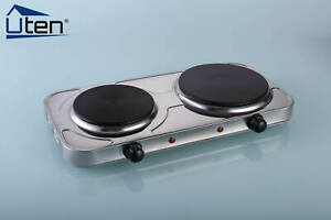 Electric Hot Plate Double Ring 2500W Portable Table Top Kitchen Cooker Stove