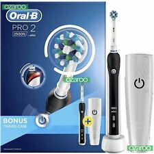 Braun Oral-B PRO 2 2500N Electric Rechargeable Power Toothbrush Gift Case, Black