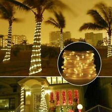 LED Solar String Lights Outdoor Solar Powered Rope Lamp Waterproof Garden Decor