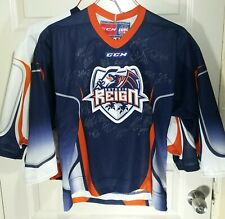 Lot of 2 ECHL Ontario Reign CCM Autographed Sewn Hockey Jersey Youth LA Kings