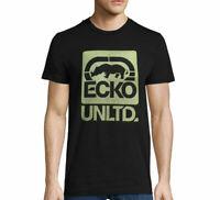 NWT ECKO UNLTD LOGO AUTHENTIC MEN'S BLACK CREW NECK SHORT SLEEVE T-SHIRT SIZE XL