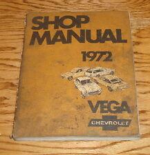 Original 1972 Chevrolet Vega Shop Service Manual 72 Chevy