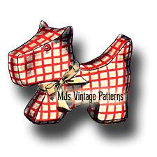 "Vintage Stuffed Animal Pattern ~ Scottie or Scotty Dog ~ 9"" long"