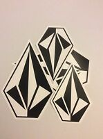 Authentic Team Rider Volcom Stone Stickers 10 inches 7 inches 4 stickers total