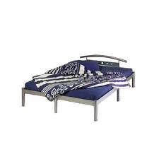 Metallbett silber - Futonbett Bett Metall 140x200 - NEU