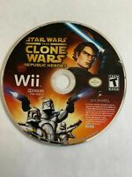 STAR WARS CLONE WARS REPUBLIC HEROES - WII - GAME ONLY - FREE S/H - (G2)