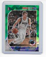 2019-20 NBA Hoops Premium Stock Luka Doncic GREEN CRACKED ICE PRIZM #39 Mavs
