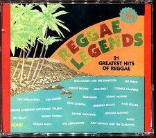 REGGAE LEGENDS - 21 GREATEST HITS OF REGGAE - 2 CD COMPILATION [2031]